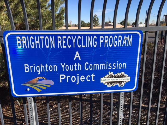 Recycling Program site signage